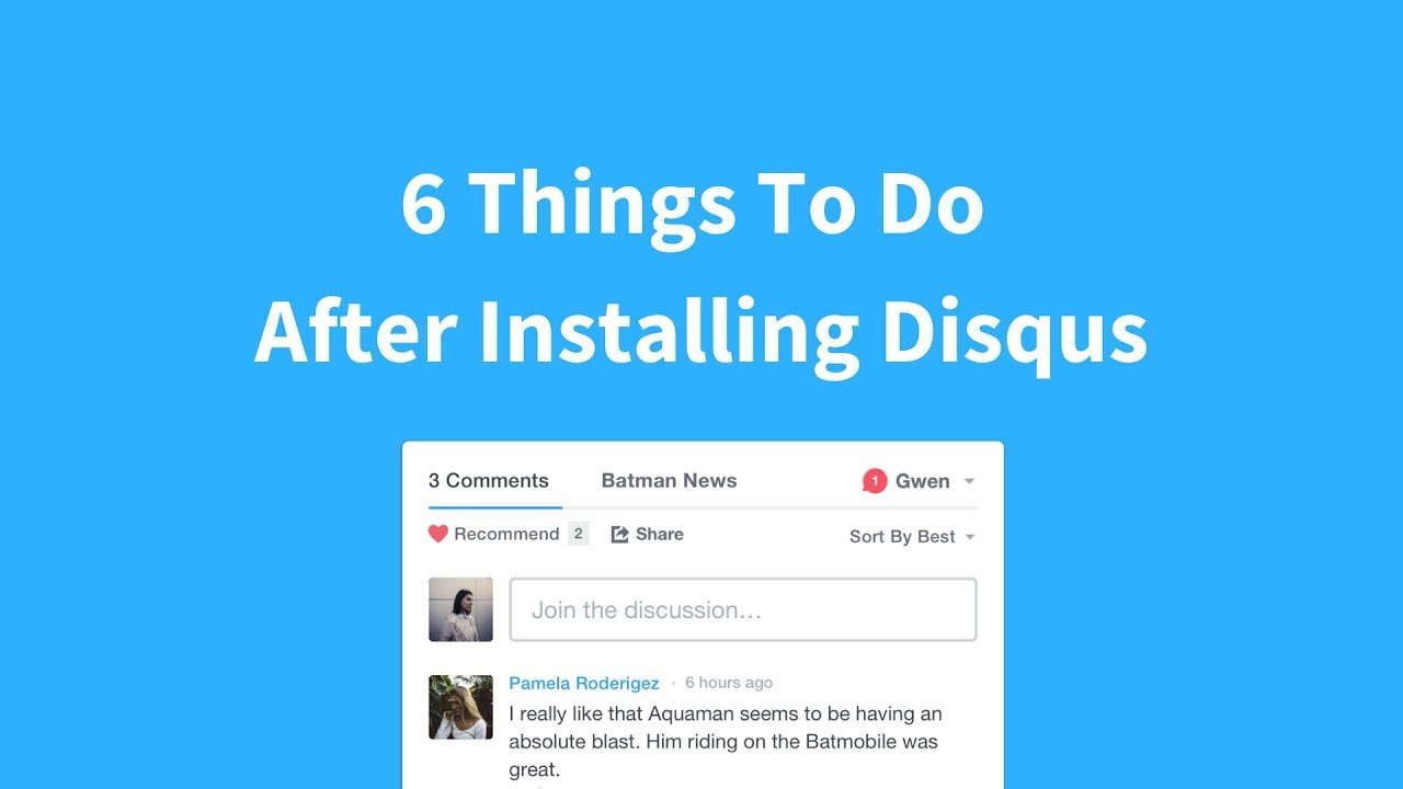 Information about Disqus